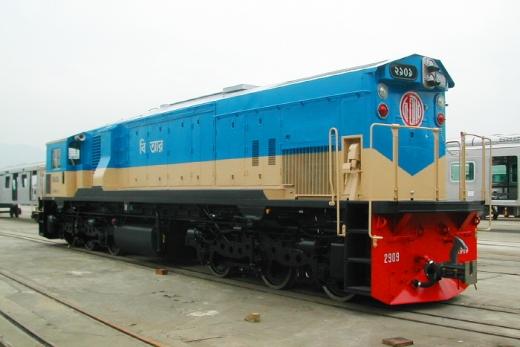 방글라데시 디젤전기기관차/ 사진=현대로템 제공