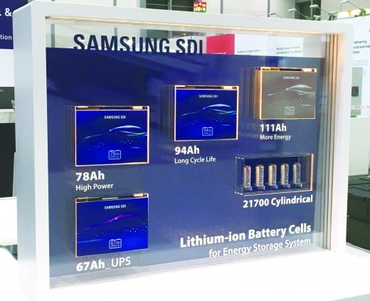 삼성SDI의 ESS 배터리 셀. /사진=삼성SDI