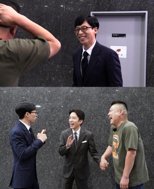 유재석과 강호동의 깜짝 만남. /사진=JTBC 제공