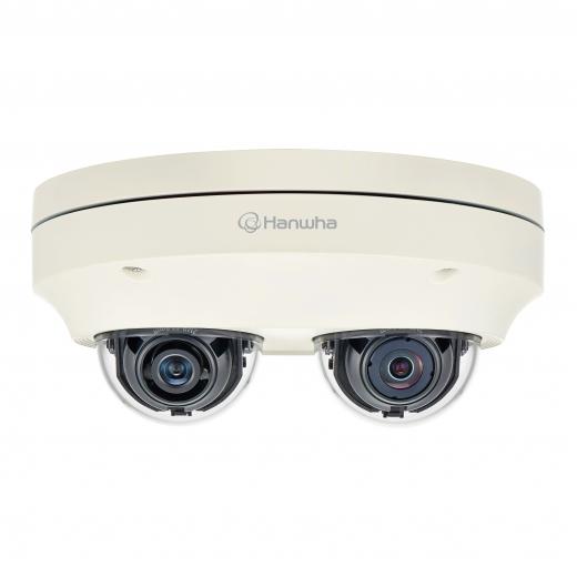 1대의 CCTV로 두 방향을 동시에 효과적으로 모니터링 할 수 있는 한화테크윈의 2채널 네트워크 멀티 디렉셔널 카메라(PNM-7000VD) / 사진=한화테크윈