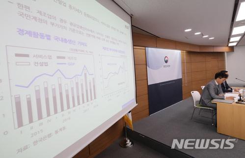 KDI 거시경제연구부가 지난 30일 정부세종청사에서 2018 상반기 경제전망을 발표하고 있다. /사진=뉴시스