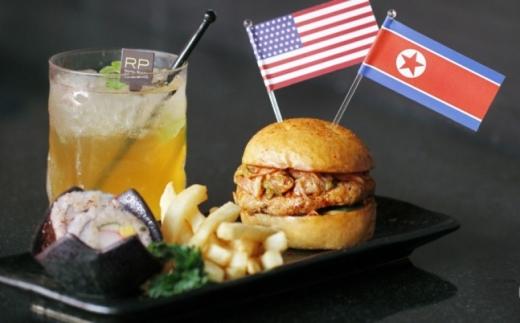트럼프-김정은 햄버거. /사진=SCMP 갈무리