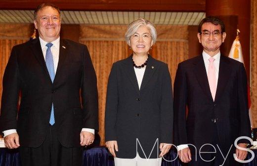 [머니S포토] 한미일 외교장관 회담, 한자리에 모인 세 국가