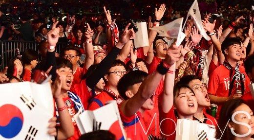 [머니S포토] 러시아 월드컵, 힘내라 대한민국
