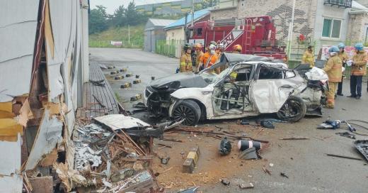 안성 렌터카 사고. /사진=경기도재난안전본부