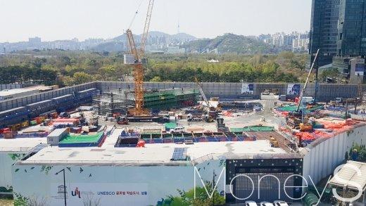 서울 시내 한 아파트 건설현장. /사진=김창성 기자