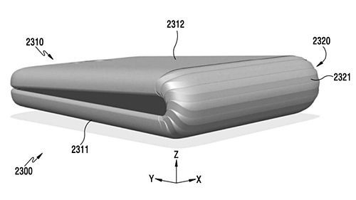 삼성전자가 지난해 말 미국 특허청에 등록한 폴더블 스마트폰 이미지. /사진=미국 특허청