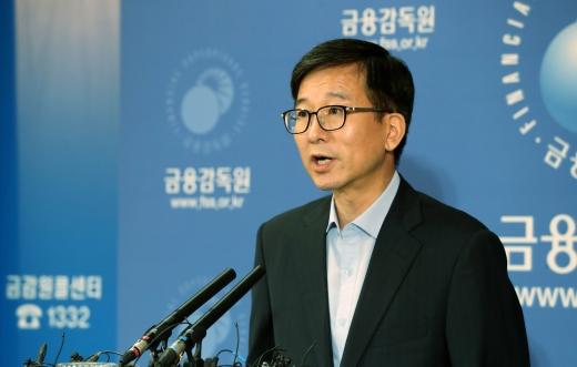 김도인 금융감독원 부원장보가 브리핑을 하고 있다./사진=뉴시스