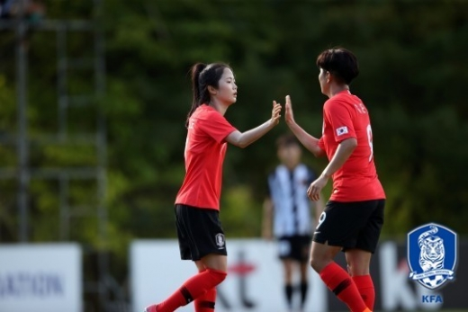 한국 여자축구 대표팀이 21일 인도네시아 팔렘방의 겔로라 스리위자야 스타디움에서 열린 인도네시아와의 2018 자카르타-팔렘방 아시안게임 여자 축구 A조 조별리그 최종 3차전에서 12-0 완승을 거뒀다. /사진=대한축구협회 제공