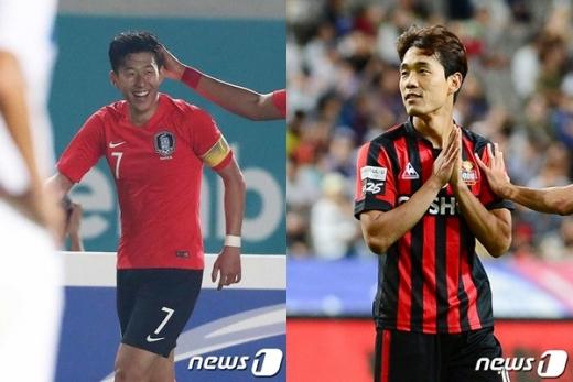 손흥민(왼쪽)과 박주영. /사진=뉴스1