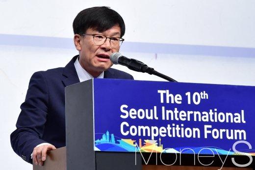 [머니S포토] 알고리즘 관련 발언하는 김상조 공정위원장