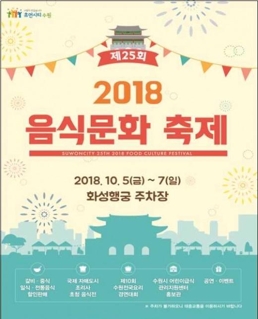 ▲ 수원시, '제25회 음식문화축제' 개최. / 자료제공=수원시