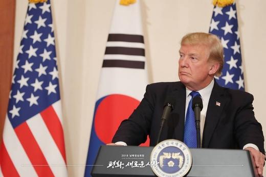 도널드 트럼프 미국 대통령./사진=청와대 페이스북