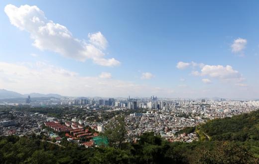 서울 중구 남산에서 바라본 도심. /사진=뉴시스 홍효식 기자