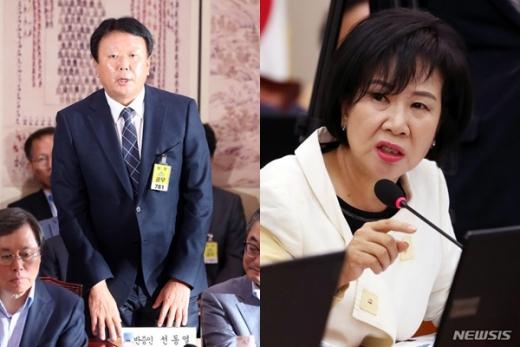선동열 야구 국가대표팀 감독(왼쪽)과 손혜원 더불어민주당 의원. /사진=뉴시스