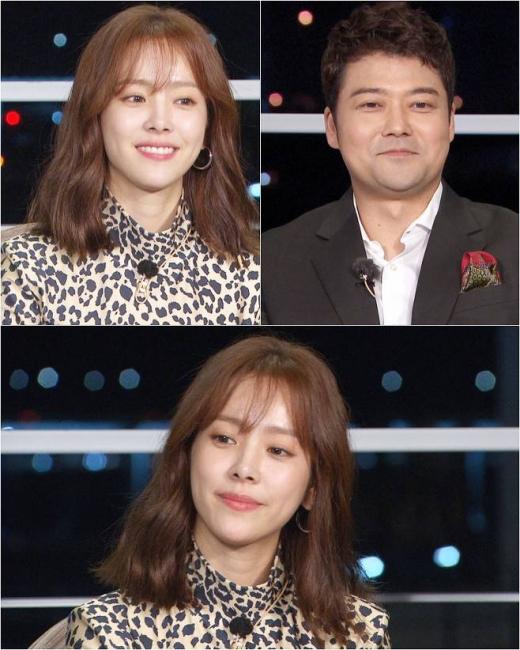 '해투4' 한지민 전현무. /사진=KBS2 방송캡처