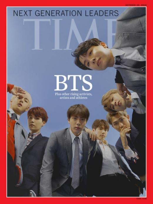 아이돌그룹 방탄소년단(BTS)을 모델로 한 미국 시사주간지 타임지 표지./사진=뉴스1