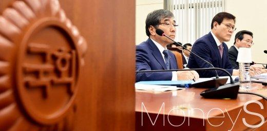 [머니S포토] 국회 정무위, 금융관련 종합 국감