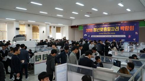 ▲ 2018 청년맞춤 일자리박람회. / 사진제공=경기인력개발원