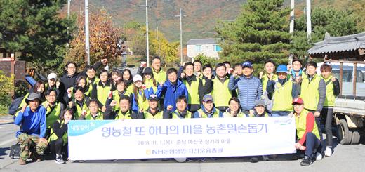 NH농협생명 자산운용총괄부, 농촌 일손돕기