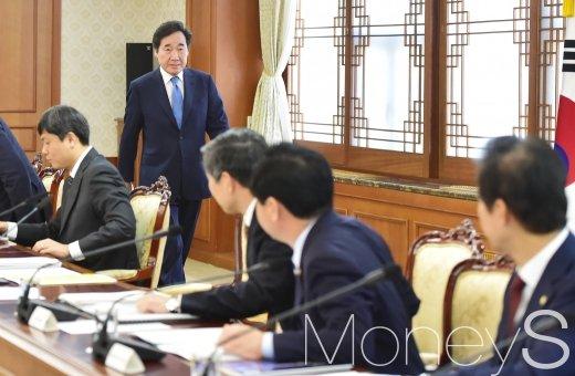 [머니S포토] 과기장관회의 참석한 이낙연 총리