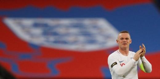 16일(한국시간) 잉글랜드 런던 웸블리 스타디움에서 펼쳐진 미국과의 11월 친선경기에서 후반 13분 교체 출전하면서 본인의 A매치 마지막 경기를 치른 잉글랜드의 웨인 루니./사진=로이터