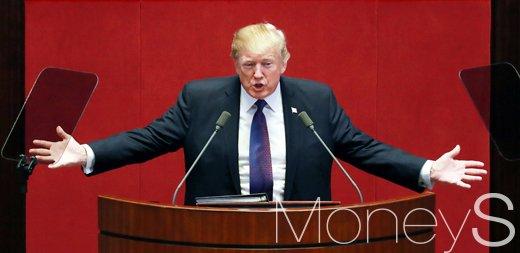 도널드 트럼프 미국 대통령이 지난해 11월 서울 여의도 국회 본회의장에서 연설을 하고 있다. /사진=머니S DB