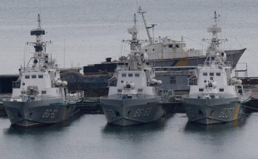 흑해 오데사항구에 정박된 우크라이나 해안경비대 선박./사진=로이터