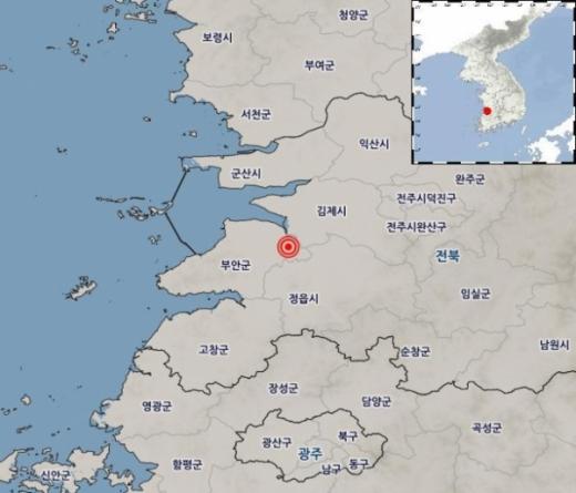 전북 부안서 규모 2.3 지진. /사진=기상청