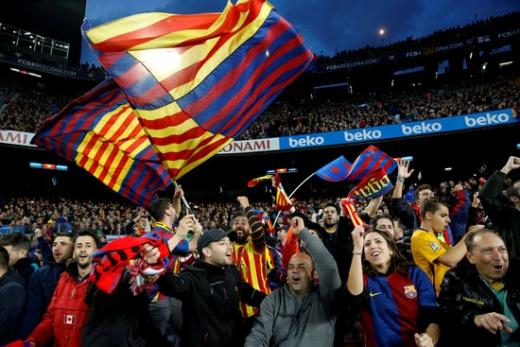 약 10만에 가까운 팬들이 움집하는 FC 바르셀로나의 홈구장 '캄프 누'는 원정팀의 지옥에 가까운 경기장이다. /사진=로이터