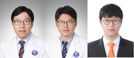 사진 왼쪽부터 차 의과학대학교 분당차병원 종양내과 김찬∙전홍재 교수, 이원석 박사