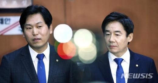 무소속 이용호(오른쪽), 손금주 의원이 지난해 12월28일 오후 서울 여의도 국회 본청 정론관에서 더불어민주당 입당 기자회견을 가졌다./사진=뉴시스 홍효식 기자