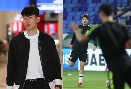 조만간 한국 축구 대표팀 경기에 나설 손흥민(왼쪽)과 기성용. 팀 내에서 이들은 여전히 대체불가 자원이다. /사진=뉴스1