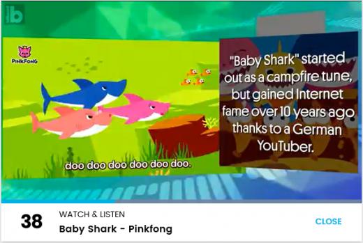 빌보드차트서 '상어가족'을 '구전동요로 시작됐지만, 독일 유튜버에 의해 10년 전 명성을 얻었다'고 소개하고 있다./사진= 빌보드차트 캡처