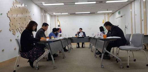 ▲ 2019년 상반기 개관 사회기반시설 추진사항 점검회의. / 사진제공=양주시