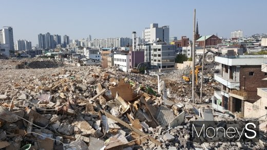 서울시내 한 재개발 철거현장. /사진=김창성 기자