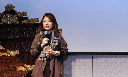 제시카 리 넷플릭스 아시아태평양 커뮤니케이션 총괄 부사장이 환영사를 하고 있다. /사진=넷플릭스