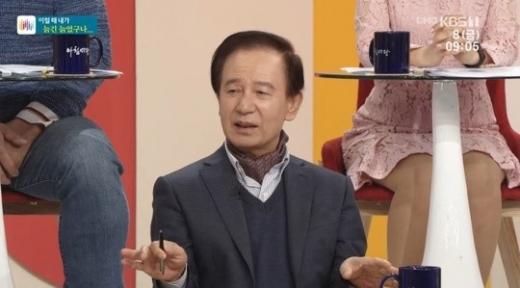 소설가 김홍신. /사진=KBS 1TV '아침마당' 방송화면 캡처