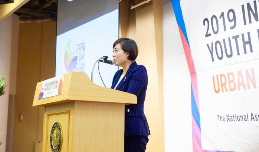 ▲ 컨퍼런스에 참석해 기조연설을 하고 있는 안혜영 부의장. / 사진제공=경기도의회
