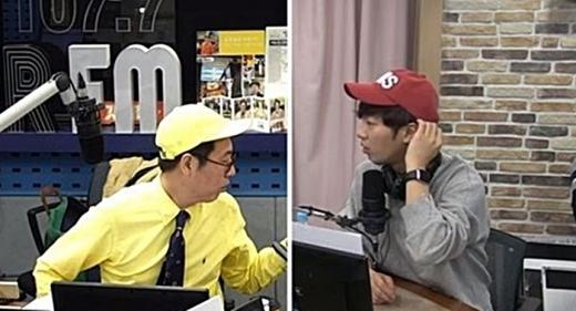 철파엠에 출연한 이상엽이 김영철의 질문에 답하고 있다. /사진=SBS 보이는 라디오