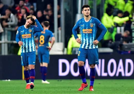 아틀레티코 마드리드는 13일(한국시간) 이탈리아 토리노 알리안츠 스타디움에서 열린 2018-2019시즌 UEFA 챔피언스리그 16강 2차전에서 아유벤투스에게 충격적인 완패를 당하며 탈락했다. / 사진=로이터