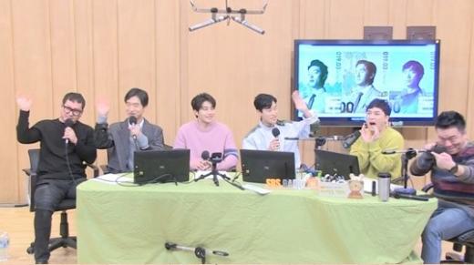 (왼쪽부터) 정만식, 조우진, 김재영, 류준열. /사진=sbs 보이는 라디오 캡처