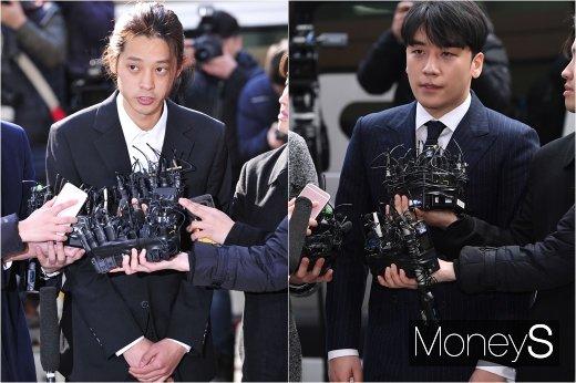 [머니S포토] 메신저 아닌 경찰청에서 만난 정준영과 승리