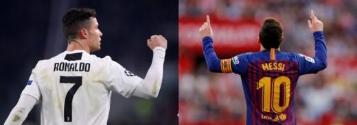 이번 시즌에도 크리스티아누 호날두(왼쪽)와 리오넬 메시가  UEFA 챔피언스리그를 제패할까. /사진=로이터