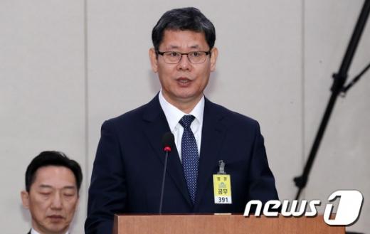 김연철 통일부 장관 후보가 26일 모두발언을 하고 있다./사진=뉴스1