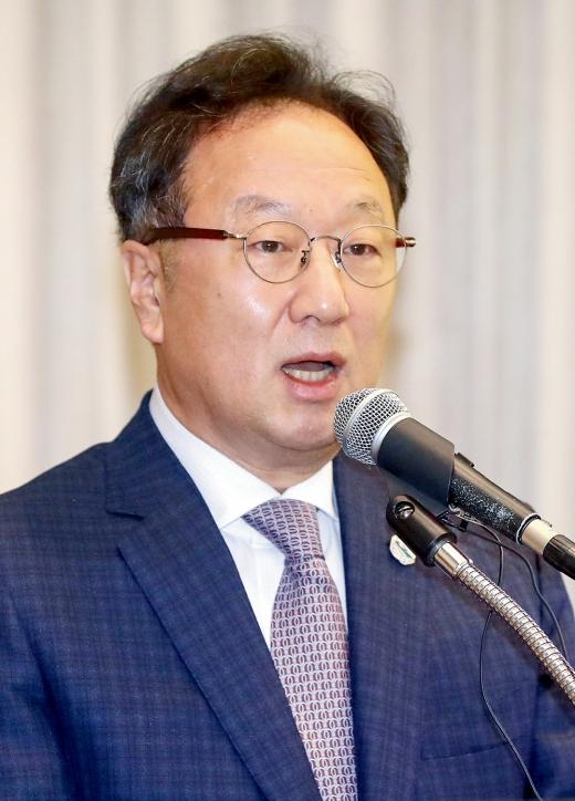 이우석 코오롱생명과학 대표이사. /사진=머니투데이 홍봉진 기자
