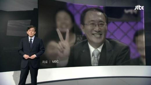 손석희 뉴스룸 앵커브리핑. 고 노회찬 의원. /사진=JTBC 뉴스룸 방송 화면 캡처