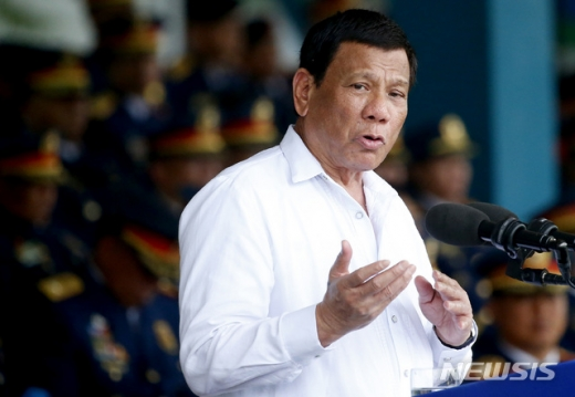 두테르테 필리핀 대통령이 중국에 경고했다. /사진=뉴시스