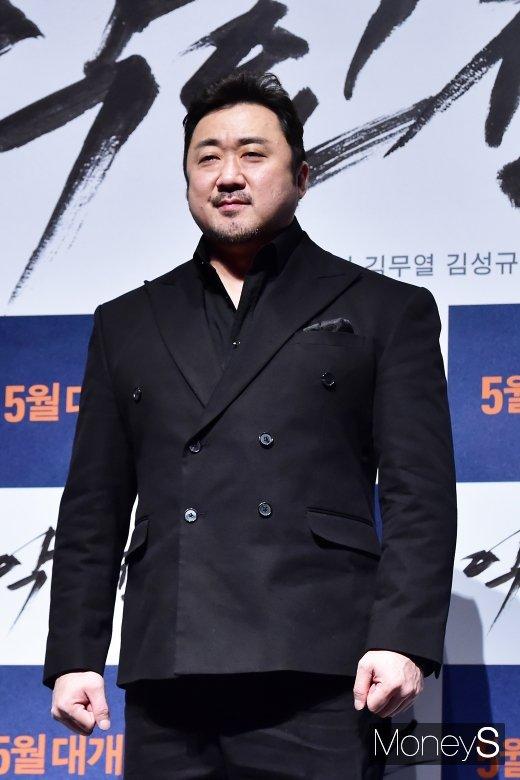 """[머니S포토] 마동석, '악인전 출연 결심?, """"모두 센 캐릭터 마음에 들어서""""'"""