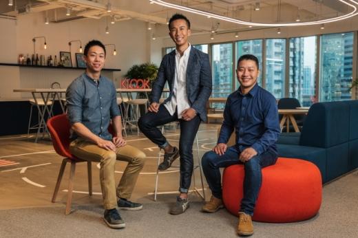 클룩의 공동 창업자인 에릭 녹 파 최고운영책임자(COO), 이썬 린 최고경영자(CEO), 버니 시옹 최고기술책임자(CTO, 왼쪽부터). /사진=클룩